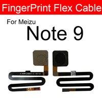 Voltar para casa botão de impressão digital cabo flexível para meizu nota 9 note9 m923q sensor toque id impressão digital flex fita peças reposição