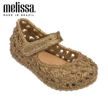 Mini Melissa Campana Crochet Princess Girl Jelly Shoes Sandals 2020 NEW Baby Shoes Soft Melissa Sandals For Kids Bird's Nest mini melissa campana балетки