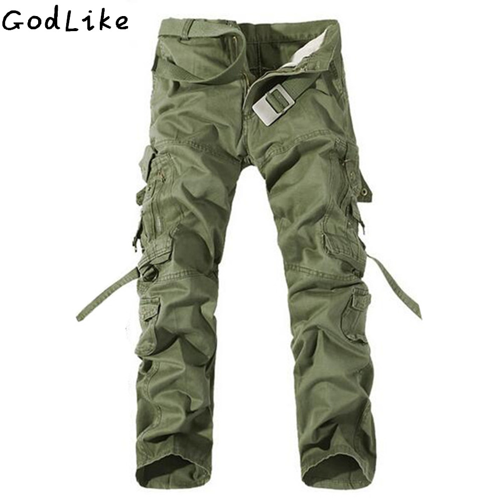 New 2019 Men Cargo Pants Army Green Big Pockets Decoration Mens Casual Wash Trousers Male Autumn Army Pants Plus Size 40