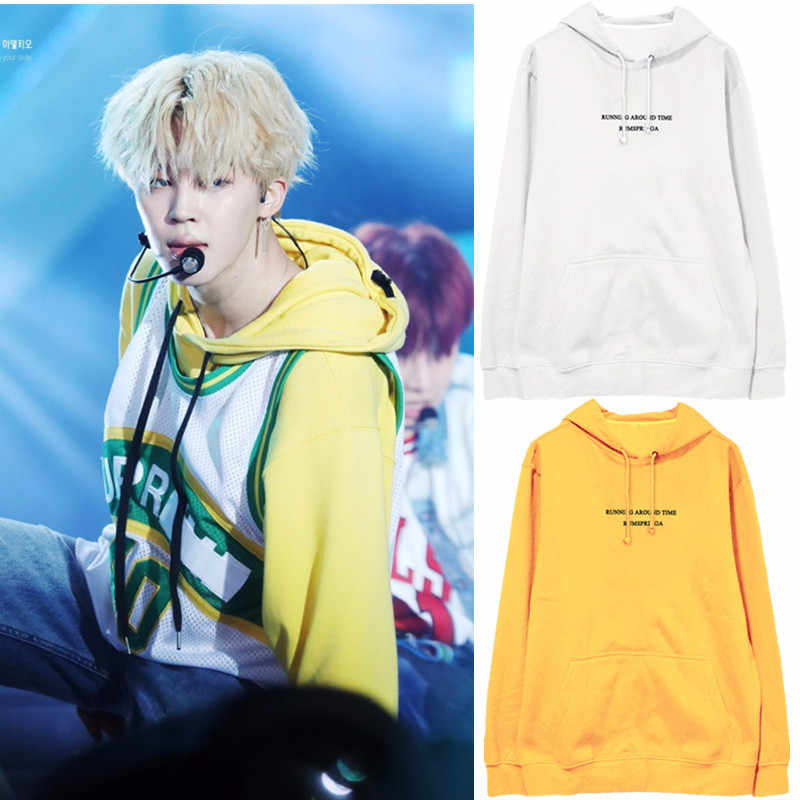 New Korean Fashion Kpop Jimin Hoodie Sweatshirts Women Long Sleeve Hooded Tops Pullovers Harajuku Streetwear Hip Hop Hoode Hoody