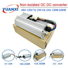 Non-isolated DC DC converter 48V-120V to 24V 5A-25A 120W-600W step-down converter for various vehicle system modification