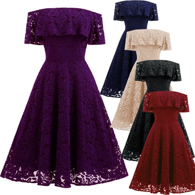 BacklakeGirls Off Shoulder Sexy Lace Dress Short Prom Dresses 2020 Boat Neck Short Sleeve Party Cocktail Dress Красное Платье