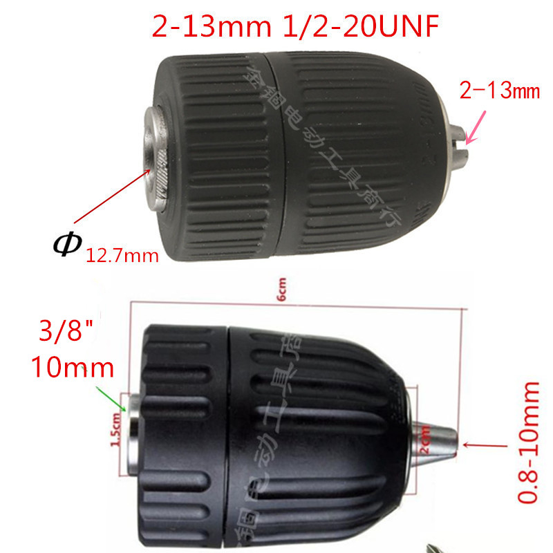 Drill Keyless Chuck 3/8-24UNF replace for <font><b>MAKITA</b></font> HP343 DF347D DDF343 8281DW 8271DW 6281DW <font><b>6281D</b></font> 6280D 6270D 6271D 6261D 6271DW image