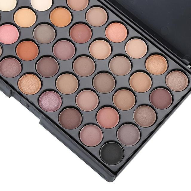 40 Color Matte Eyeshadow Palette Glitter Eye Shadow Waterproof Long Lasting Make Up Pallet Nude Shimmer Fashion Beauty TSLM1 New 2