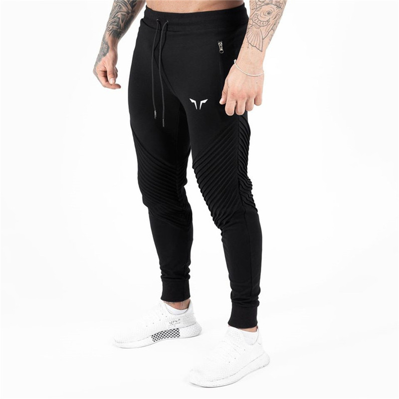 2020 new fashion streetwear fashion men's trousers brand casual slim pants jogger exercise running men's clothing