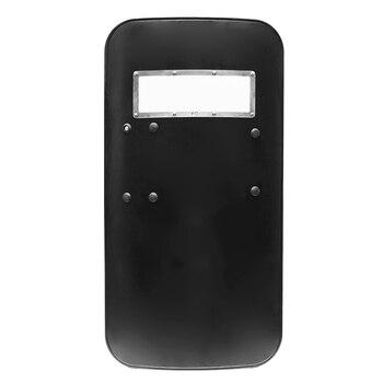 Protector táctico antimotín de plástico para PC, protección de seguridad antimotín, herramienta de autodefensa, color negro