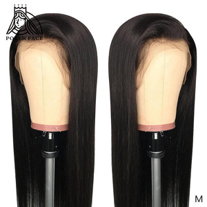 Image 1 - Poker Gezicht Recht 13x6 Lace Front Menselijk Haar Pruiken 8 28 30 inch Onzichtbare Nep Hoofdhuid Pruiken braziliaanse Frontale Pruik Niet Remy Haar