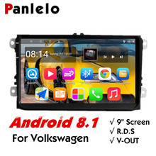 Panlelo S9 Plus 9 inch Autoradio For VW Car Android 8.1 GPS Navigation Stereo Radio Multimedia Player Golf Polo