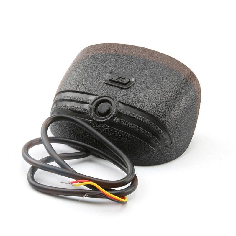 lowest price 2 in 1 LCD Car Truck Water Temp Gauge Temperature Sensor Meter Voltmeter Voltage Gauges Digital Horizontal gauge Sunshiel12v 24v