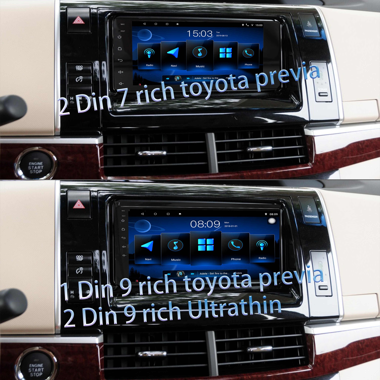 1 din 9 インチ/2 din 9 インチ超薄型/2 '7 インチトヨタプレビア android のカーラジオマルチメディアプレーヤーステレオラジオプレーヤーナビゲーション