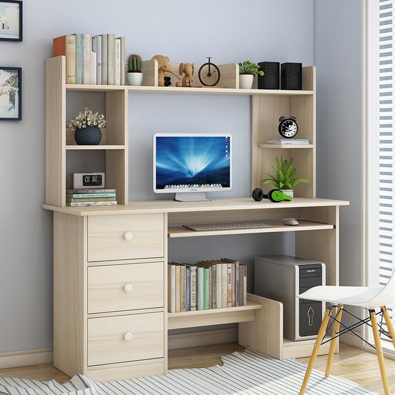 Computer Table Desk Desktop Student Household Bookshelf Combination Modern Minimalist Desk Office Desk Simplicity Small Table