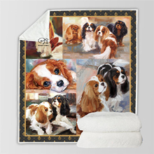 Plstar Cosmos Cute Animal Cartoon Pet dog/cat  Blanket 3D print Sherpa on Bed Home Textiles Dreamlike style-11