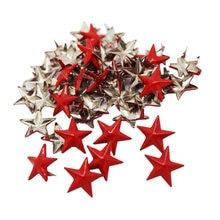 50x металлические красные заклепки в виде звезд панк шипы для