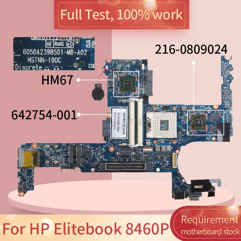 For <font><b>HP</b></font> Elitebook <font><b>8460P</b></font> 6050A2398501 642754-001 HM67 216-0809024 DDR3 Notebook <font><b>motherboard</b></font> Mainboard full test 100% work image