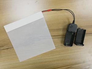 """Image 1 - SUNICE Film Gebäude Fenster Gläser Smart Film 4 """"x 3"""" PDLC Magie Schaltbare Transparent Farbe Film Probe Größe für Prüfung"""