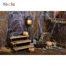 Yeele Photophone Halloween Backdrop Pumpkin Spider Web Old Barn Warehouse Wood Vinyl Photography Background For Photo Studio