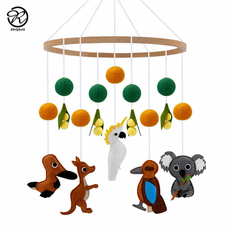 Nursery Decor Hanging Baby Mobile Crib Toy Natural Mobile Baby Room Decor Cloud Mobile Forest Mobile Woodland Baby Mobile