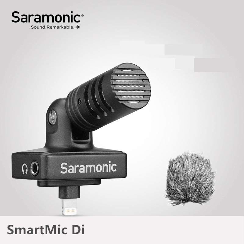 Saramonic SmartMic Di Stereo Digital Kondensator Video Mic für IOS iPhone iPad Mini Klar Aufnahme Video Vlog Live Broadcast Mic