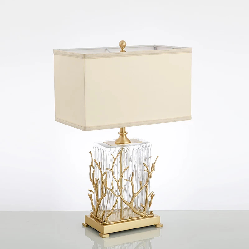 Modern copper table lamp American luxury living room hotel decorative lamp bedroom bedside lamp designer copper branch lamp|LED Table Lamps| |  - title=