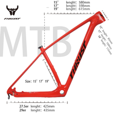 דחף פחמן mtb מסגרת 29er 15 17 19 אינץ BSA BB30 Thru Axle אופני אופניים פחמן מסגרת 27.5er פחמן mtb מסגרת