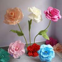 Искусственный гигантский пенопластовый розовый свадебный фон Моделирование цветок стена дорога ццитируется DIY праздничные украшения для ...