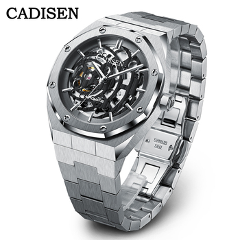 CADISEN Luxury Top Brand NH70A Automatic Mechanical Men's Watches Casual Hollow Out Dial Wristwatch Waterproof Relojes Hombre 1