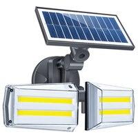 80LED Solar Light Dual Head Solar Lamp PIR Motion Sensor Spotlight Waterproof Outdoor Adjustable Angle For Garden Wall Beloved