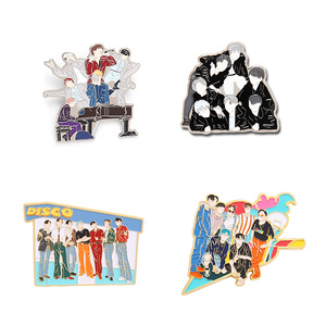 Kpop Bangtan Boys Pin Brooch Badge Accessories For Clothes Backpack Decoration