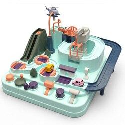 Kimi & Mommy забавная образовательная игрушка Railcar, экологически чистая детская игрушка для приключений, автомобиль макарон, цветные настольные ...