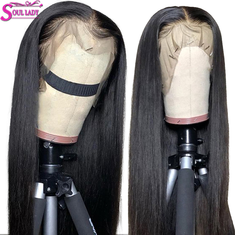 Transparent 13x6 Lace Front Wig Glueless Lace Front Human Hair Wigs With Elastic Band Indian Remy Straight 360 Lace Frontal Wig
