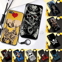 Schedel skelet ghost Zachte Siliconen Telefoon Case voor Redmi Note 4X5 6 7 8 5 6 7 8 pro 5A 16G 32G 64G 5A Prime Cover(China)