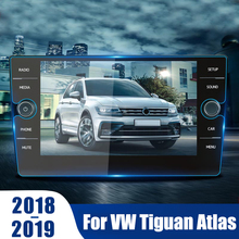 Car GPS Navigation Tempered Glass Screen Protector Steel Protective Film For Volkswagen VW Tiguan Atlas 2018 2019 Accessories car tempered glass screen protective film sticker gps multimedia lcd guard for vw volkswagen 2017 2018 tiguan mk2 accessories