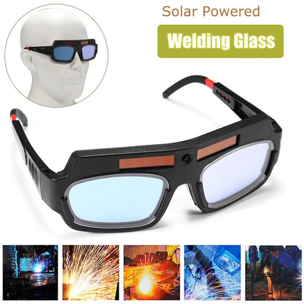 Solar Powered Ultraviolet-Proof Soldering Goggle Welding Protection Glasses Anti-Scratch Anti-Glare Anti-Shock Anti-Ultraviolet