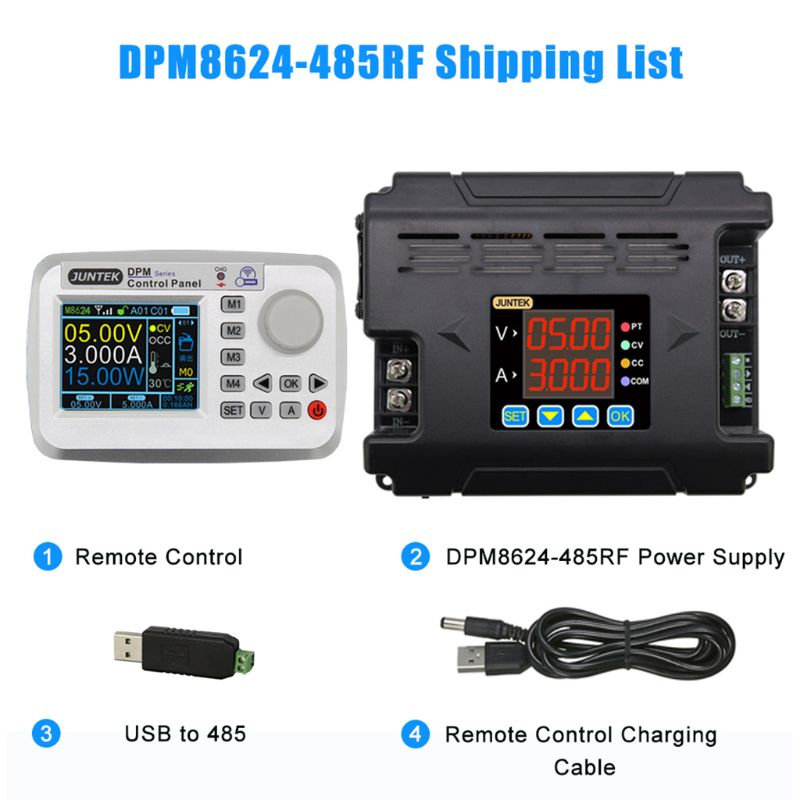 DPM8624 Digital Remote Constant Current Buck Communication Power Supply DC-DC Step-down Voltage 60V 24A 4XFD