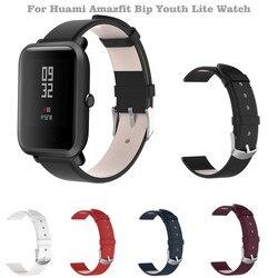 Smart armband Zubehör Sport Leder Ersatz Armband Strap Für Huami Amazfit Bip Jugend Lite Uhr tropfen verschiffen
