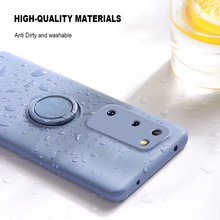 цена на Soft Silicone Phone Case For Samsung Galaxy S 10 20 Plus Case Stand Ring Back Cover For Samsung S20Ultra S10Plus S20Plus Case