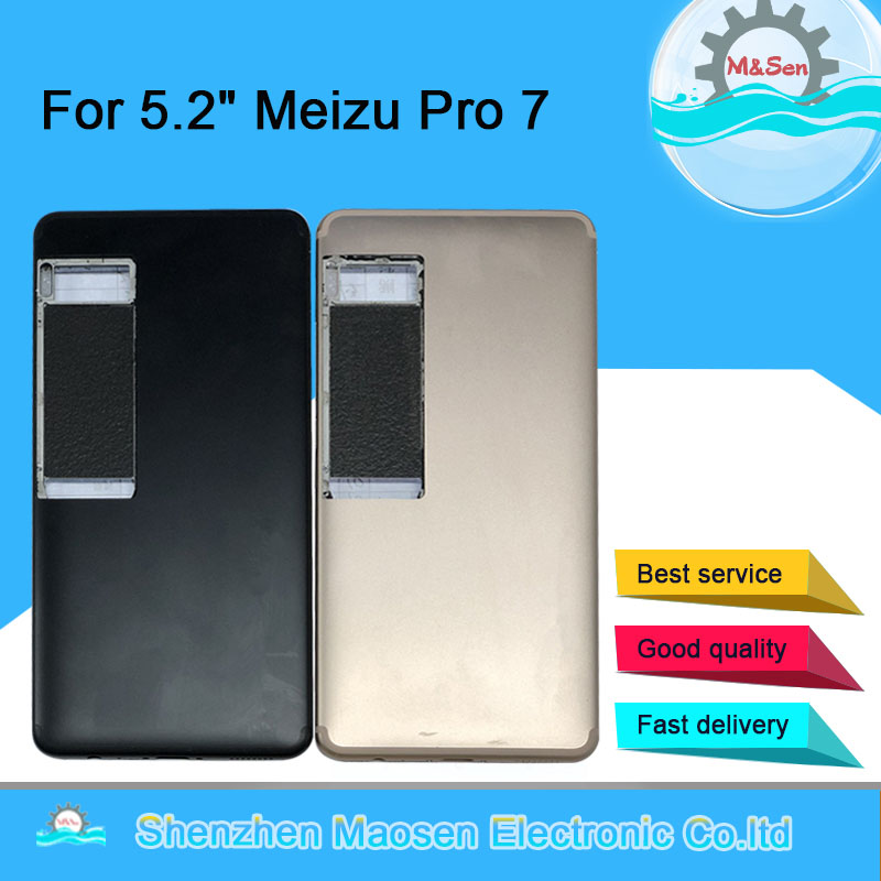 Battery-Cover-Case Secondary-Display Housing Meizu 7-Back Original for with Sen No-Power-Buttons