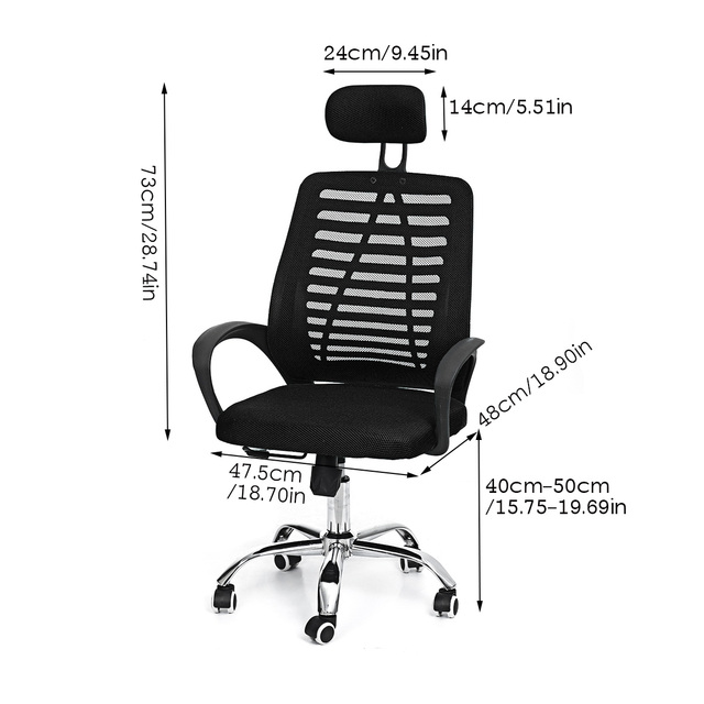 Office Chair Swivel Gaming Chair Adjustable Height Rotating Lift Chair Ergonomic Desk Computer Chair Armchair Recliner Home 6