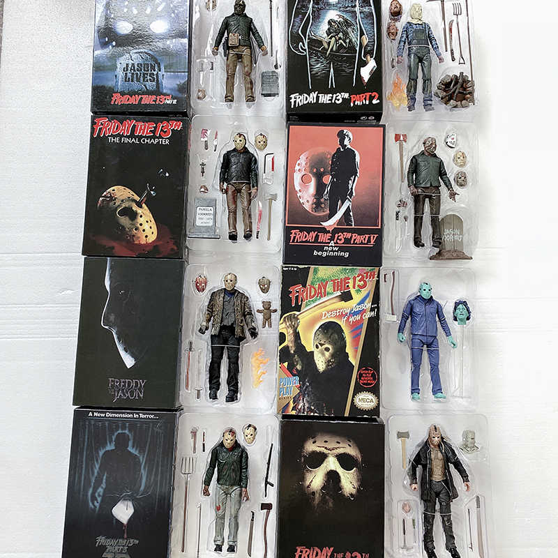 9 tipo di Originale NECA Venerdì 13th Parte 3D Jason Video Gioco Voorhees Freddy Action Figure Toy Doll Horror Regalo