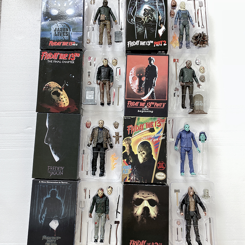9 Type Original NECA Friday The 13th Part 3D Jason Video Game Voorhees Freddy Action Figure Toy Doll Horror Gift