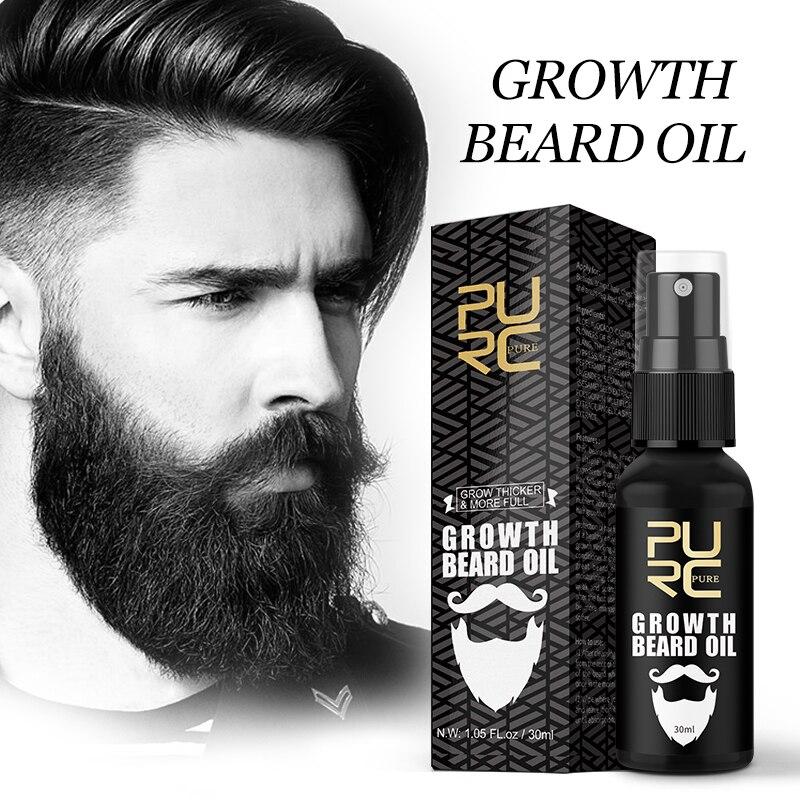 PURC aceite para el crecimiento de la barba para hombres, tratamiento para el cuidado de la barba, grueso y más completo|Productos anticaída del cabello| - AliExpress
