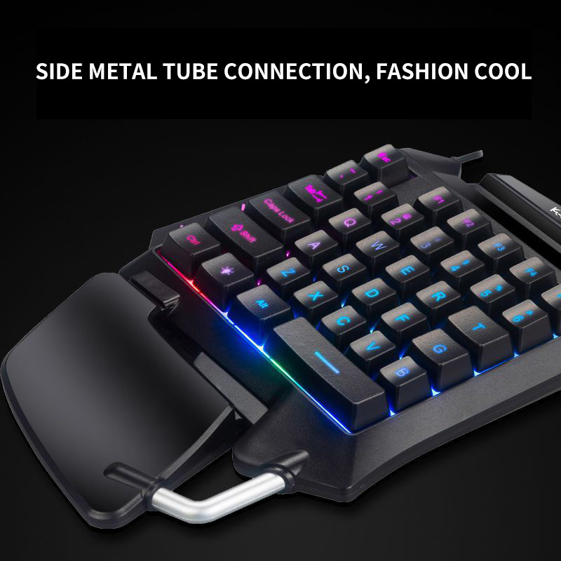 Image 3 - One Handed Mechanical Gaming Keyboard LED Backlight Portable Mini Gaming Keypad Game Controller For PC PS4 Xbox GamerKeyboards   -