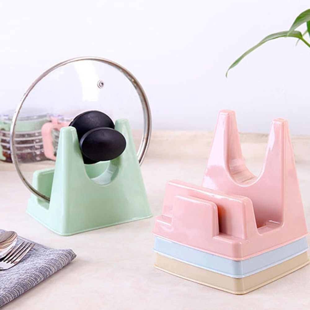 Practical Kitchen Cooking Tool Pot Pan Cover Lid Shell Stand Holder Anti-Slip Bracket Chopping Block Storage Holder Rack Tool