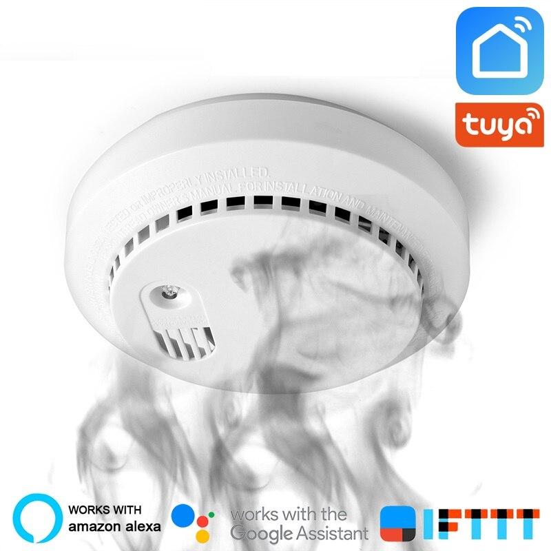 Wifi Carbon Monoxide Detector Co Smoke Sensor Smart Home Security Tuya Smart Life App Alexa Google Home IFTTT