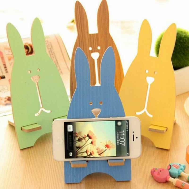 Univeral Lazy Mobile Phone Holder Accessory Cute Rabbit Adjustable Cellphone Tablet Desktop Holder Stand for Xiaomi Phone