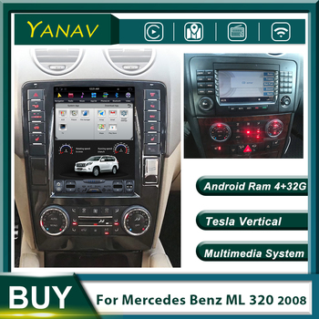 Vertical Screen Car Radio Stereo Receiver for-Mercedes-Benz ML 320 2008 GPS Navigation Auto Video Android Multimedia MP3 Player image