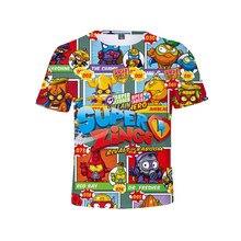 Meninos e meninas super zings roupas nova harajuku estilo clássico superzings jogo 3d impressão camiseta crianças roupas do bebê