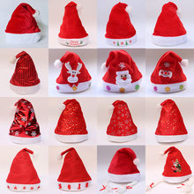 Christmas Hats Caps Ornaments Decoration Santa Hats Children For Gift New Year Cap Merry Christmas Decorati Party Props 2019(China)
