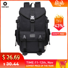OZUKO Large Capacity Travel Backpacks Men's 15.6 Inch Laptop Computer Backpack Casual  School Bags Rucksack Travel Bolsa Mochila