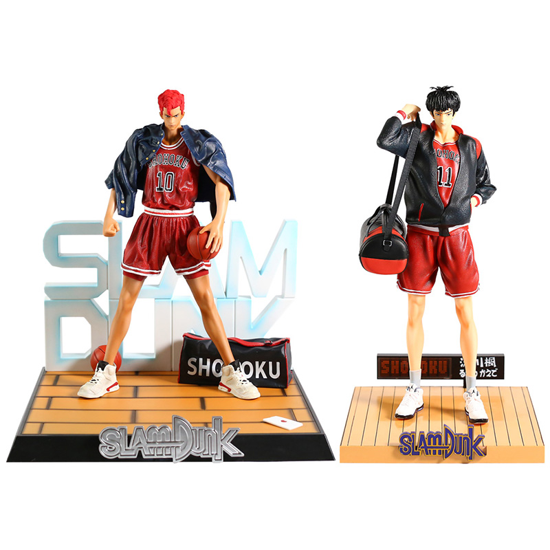 Slam Dunk SHOHOKU Sakuragi Hanamichi 10 / Rukawa Kaede 11 <font><b>1/4</b></font> <font><b>Scale</b></font> PVC <font><b>Figure</b></font> Collectible Model Toy image